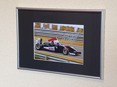 Max Verstappen - hand-autographed framed photo Victory Masters of Formula 3 Zandvoort + COA