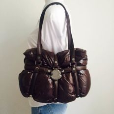 Moncler  - Brown Padded Leather Coussin Bag Tote - *No Minimum Price*