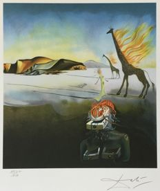Salvador Dali (1904-1989) (after) - La girafe en flamme