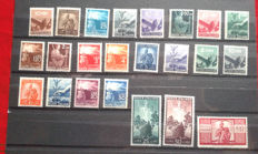 Republic of Italy, 1945, Democratic series - 23 stamps -Sass. No. 543/565.