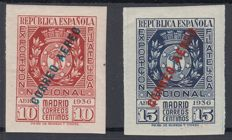Spain 1936 – Madrid Philatelic Exhibition. Aerial Mail – Edifil 729/730