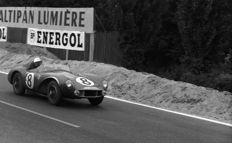 1956  Le mans 24 Hour Aston Martin DB3S Stirling Moss   Photograph 54cm x44cm