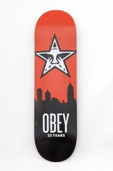 Shepard Fairey (OBEY) - Skyline Skateboard Deck | 25 Year Edition