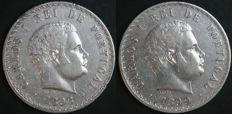 Portugal – 500 Reis 1896 and 1899 Carlos I (2 moedas) – silver