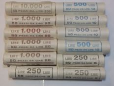 Italy, Republic - Lot of 600 coins in 12 rolls