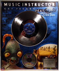 Music Instructor - Get Freaky - rare German GOLD Music Award goldene Schallplatte - original Sales Music Record Award ( Golden Record )
