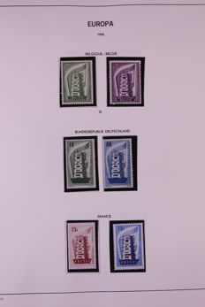 Europa Stamps 1956/1969 - Collection on Davo sheets