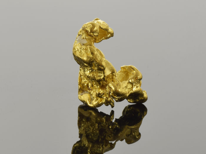 Natural Gold Nugget - 13.3 x 7.7 x 6.7 mm - 11.65 ct