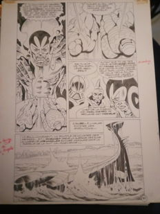 Jean-Yves Mitton - Original Page Art + Colour Layer - Mikros Episode #17 - Page 10 - (1983)