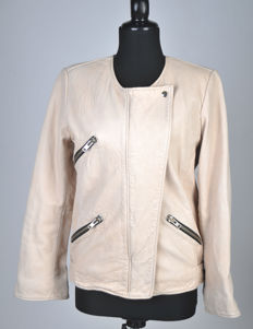 Isabel Marant Etoile beige leather jacket