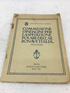 Original book from the fascist period about the Airship Italia, 1930, maps included