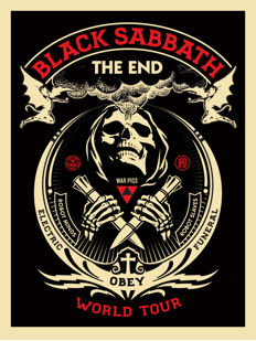 Shepard Fairey (OBEY) - Black Sabbath red