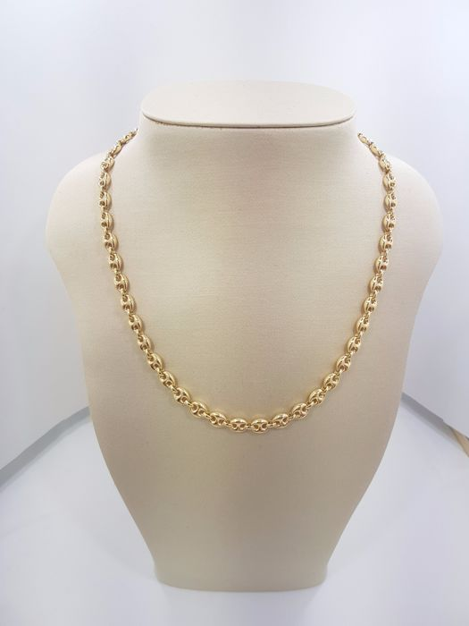 18ct Yellow Gold Link Chain, Length 50cm