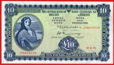 Ireland - Lady Lavery - 10 Pounds 1975 - Series A - Central Bank of Ireland - Pick 66c