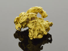 Natural Gold Nugget - 11.7 x 9.7 x 6.3 mm - 11.7 ct
