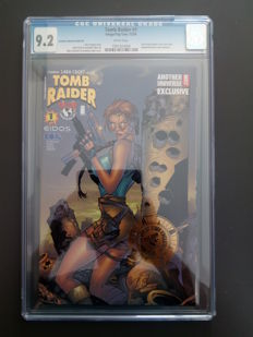 Images Comics - Tomb raider #1 - Anotheruniverse.com Exclusive Variant Gold Foil Cover - CGC Graded 9.2 - 1x SC - (1999)