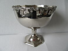 Silver plated fruit bowl, France, 20th century