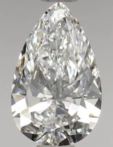 0.51ct Pear Brilliant D VVS1 GIA - Low Reserve Price - #2251