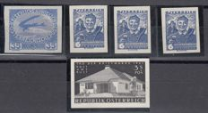 Austria - imperforate proof lot