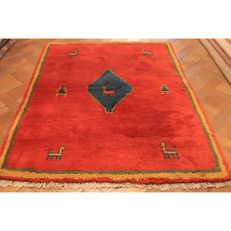 Handwoven carpet, Gabbeh, made by nomads, wool on wool, made in IRAN, 170 × 120 cm