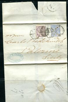 Great Britain - Lot of 13 letters with stamps from Queen Victoria's reign