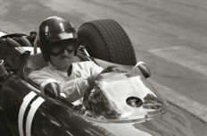 1966  Monaco Grand Prix Graham Hill BRM close up.  Photograph 54cm x44cm