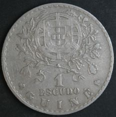 Portugal – 1 Escudo – 1933 – Portuguese Republic – Portuguese Guinea – Excellent and Very Rare – AG: 09.01