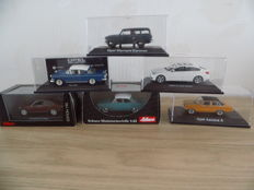 Schuco - Scale 1/43 - Lot with 6 models: Opel, Mercedes-Benz & BMW