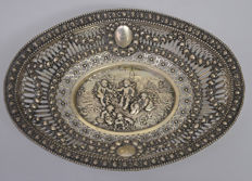 Silver bowl/basket with allegorical scene, Germany