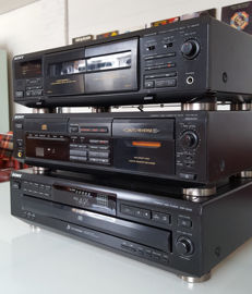 3 retro Sony systems Sony CD to Cassette Player + A Cassette to Cassette Player +  A 5 CD Player unit