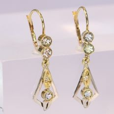 Art Deco earrings with strass stones anno 1930, no reserve price