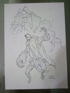 Original Drawing By Thomas Frisano - Hellboy