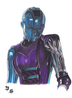 Nebula (Thanos / Guardians Of The Galaxy) By Diego Septiembre - Original Drawing