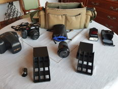 Old complete photographic equipment Minolta 7000i + accessories