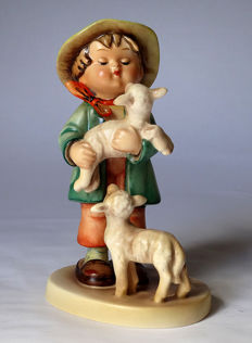 Early and rare Hummel Goebel - no. 64 - Schäferbub / Shepherd's Boy - Double CROWN