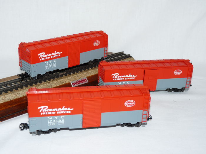 "Märklin H0 - 45648 - Vracht volume - Driedelige set goederenwagons ""Pacemaker"" - New York Central"