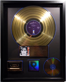 U2 - WAR - real US RIAA Gold Award goldene Schallplatte - original Sales Music Record Award ( Golden Record )