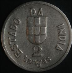 Portugal - 2 Tangas - 1934 - Portuguese Republic - Portuguese India - EXCELLENT AND VERY RARE - AG: 04.01