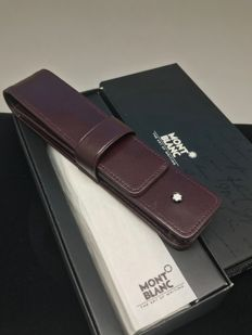 Montblanc Meisterstück Leather Pen Case in Rare Burgundy Color
