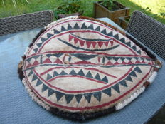 African ethnic art, old shield