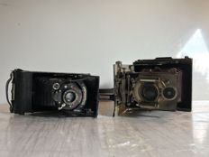 "Lot of 2 Bellows cameras by brands ""Voigtländer"" and ""H.Roussel"""