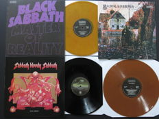 Black Sabbath - 3 great albums including 2x coloured vinyl! * Master Of Reality / Black Sabbath / Sabbath Bloody Sabbath *