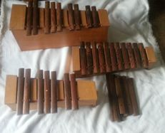 3 Studio49 xylophones, ebony sound bars