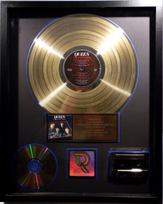 Queen - Greatest Hits - real US RIAA Gold Award goldene Schallplatte - original Sales Music Record Award ( Golden Record )