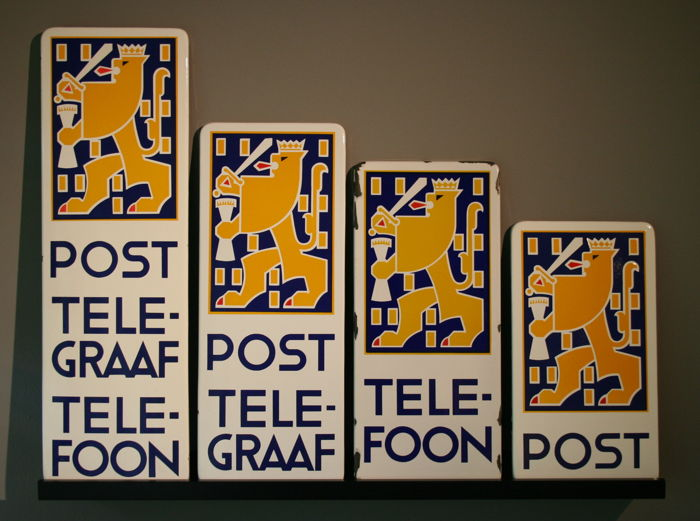 PTT set of 4 enamel signs, 1937/38