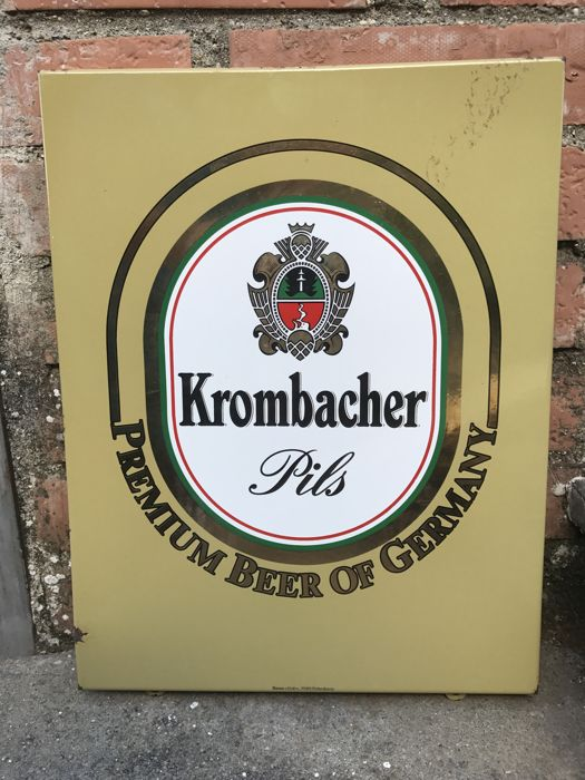 Krombacher Enamel sign 1980s-1990s