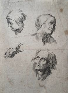 by probably Abraham Bloemaert (1566 – 27 January 1651) - Study from the Drawing Series - c.1650