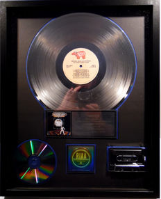 Bee Gees - Saturday Night Fever - real US RIAA Platinum Music Award ( goldene Schallplatte)  - original Sales Music Record Award ( Golden Record )