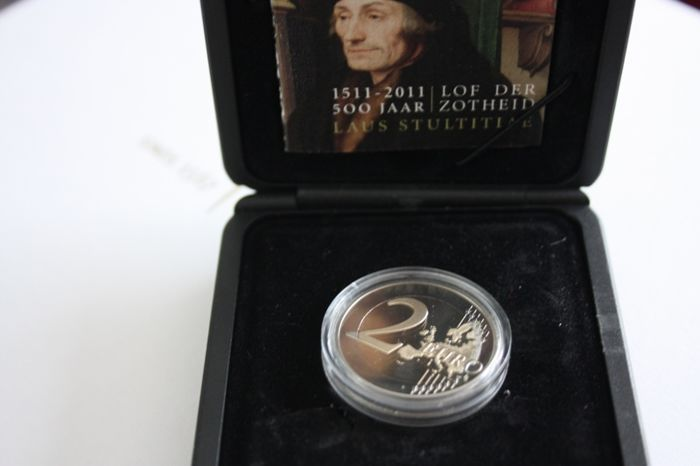 "The Netherlands - 2 Euro coin 2011, ""Erasmus"""