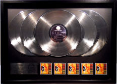 "Guns N' Roses - Use your Illusion I -  Multi Platinum oversized 5x Platinum 12"" US Album Record Award"